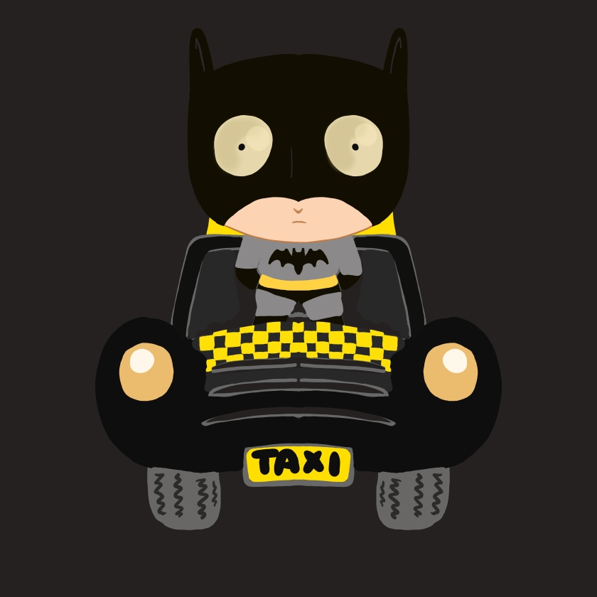 Batmans Taxi And Some Doodles Bambofu Art And Illustration